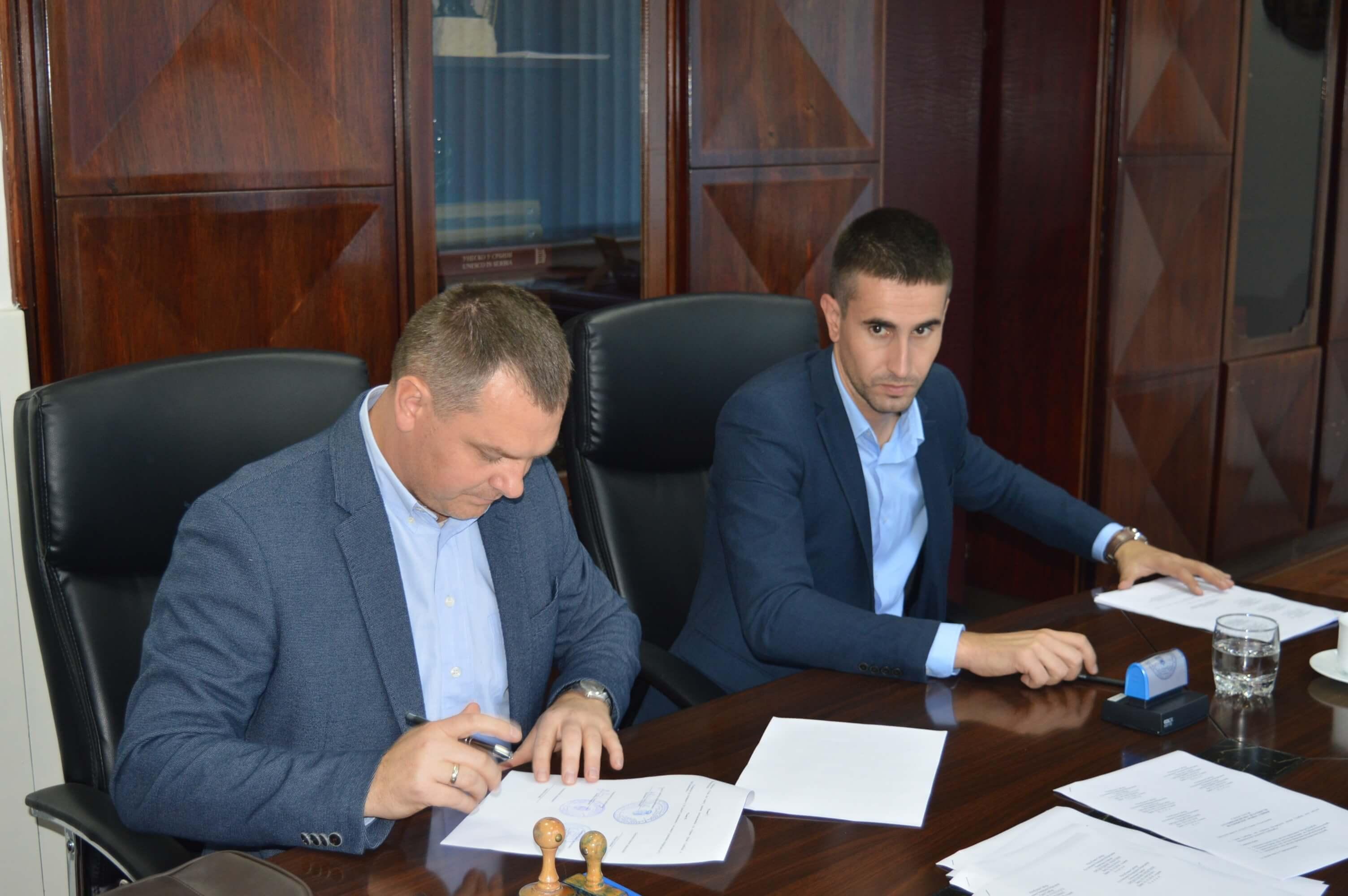 Заменик градоначелнице града Сомбора Антонио Ратковић и заменик председника општине Бач Зденко Колар