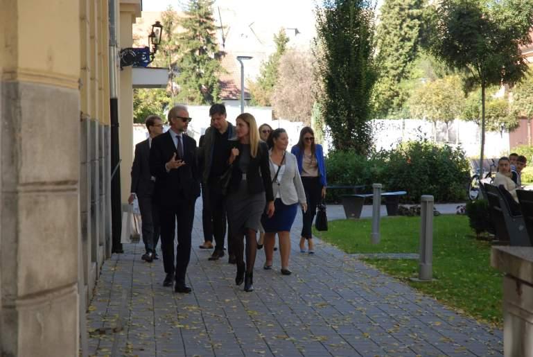 Након званичног састанка гости су у пратњи домаћина прошетали градом