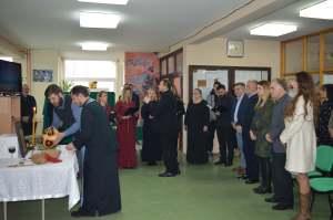 Градоначелница Сомбора Душанка Голубовић присуствовала освештењу Славског колача и програму који су припремили ученици и професоре Средње пољопривредно прехрамбне школе у Сомбору