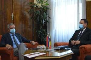Њ.е. амбасадор Белгије Адам Кун и председник Скупштине града Сомбора Зоран Рус
