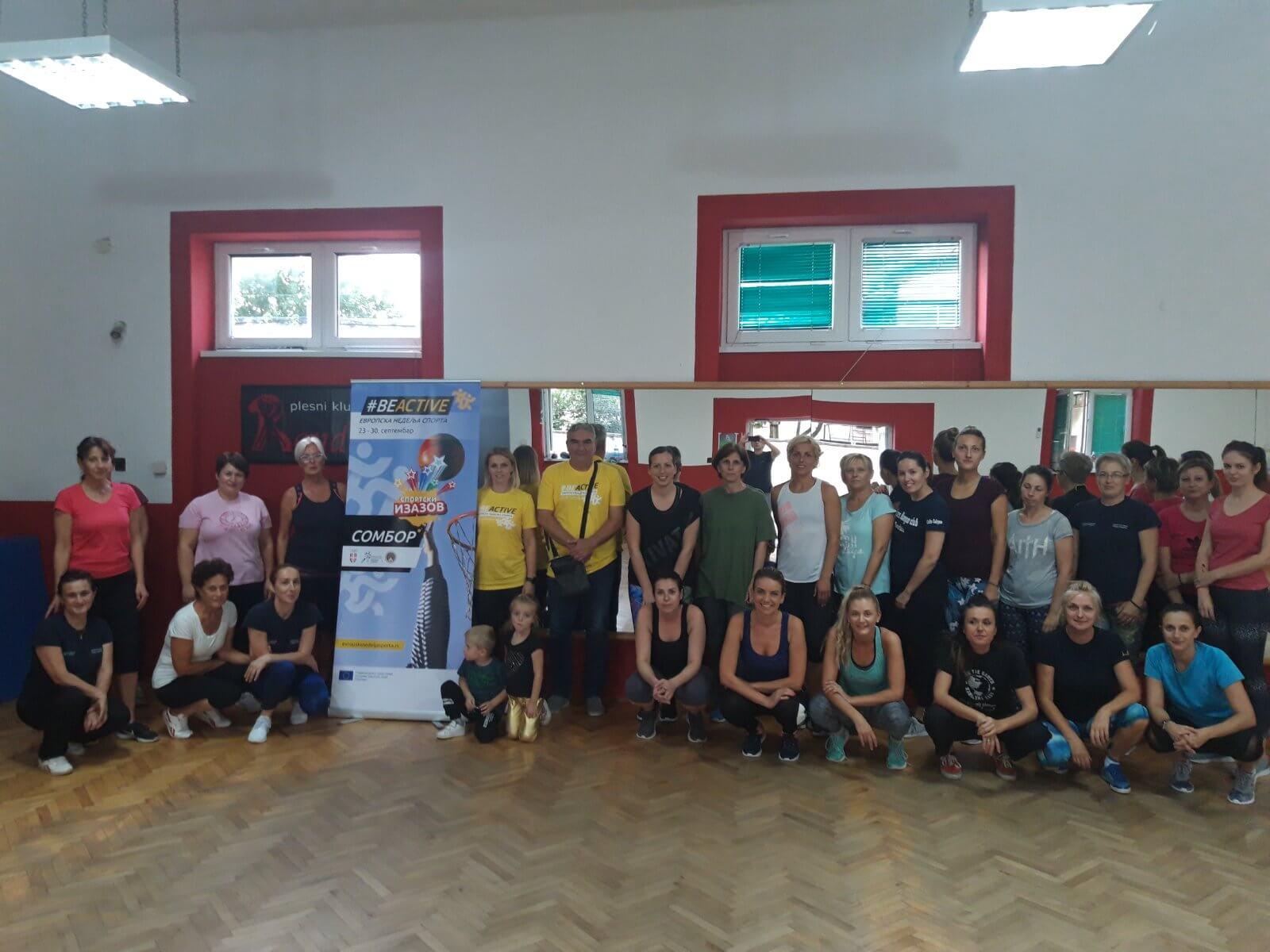 Спортска рекреација за жене у организацији Спортског савеза града Сомбора