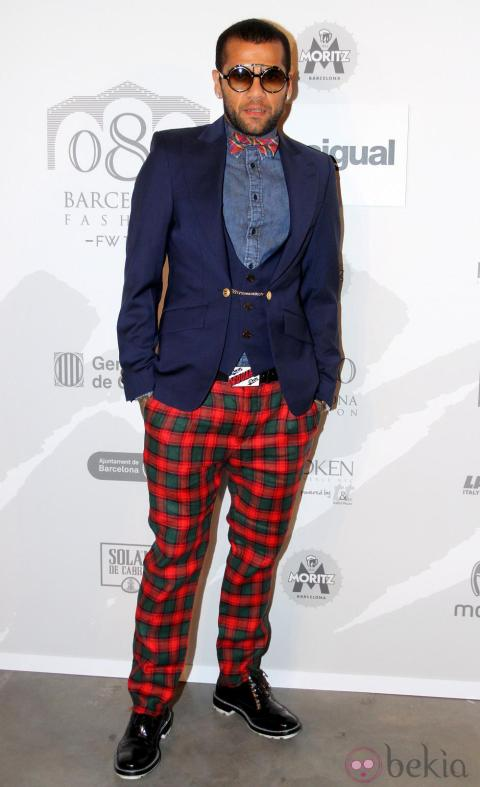Soccerplayer Dani Alves at Desigualphotocall during a 080 Barcelona fashion show in Barcelona, Spain, Tuesday, Feb. 3, 2015