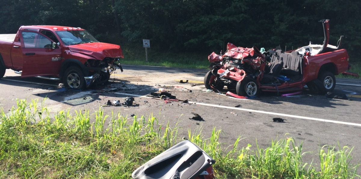Eratic Driver Hits Similar Truck Headon One Dead on