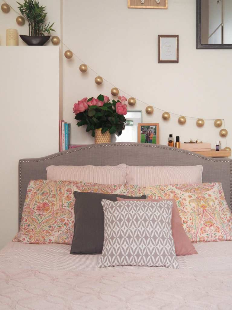 Bedroom-tour-décoration-chambre-inspiration-girly-cosy // Blog some place called home