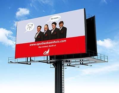 apotheek aan huis billboard
