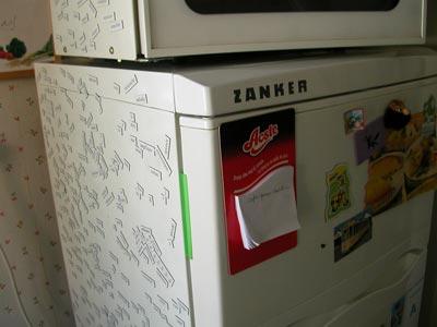 ceci est donc mon frigo