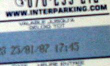 avec Interparking : j'ai un ticket !