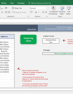 Easy organizational chart maker excel template screenshot image someka also automatic rh