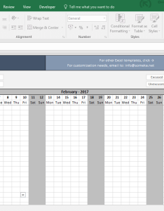 Attendance sheet printable excel template screenshot image someka also free download rh