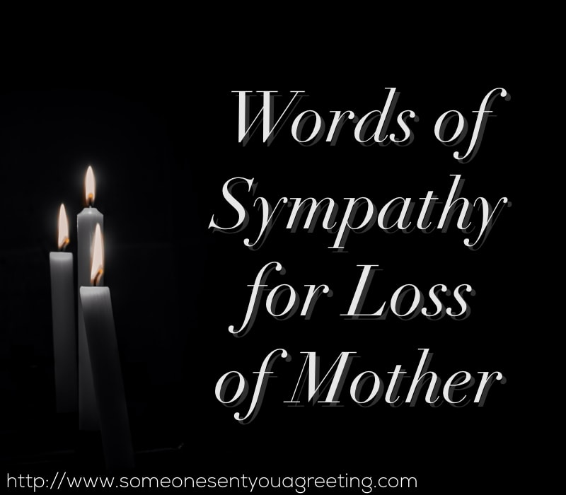 words of sympathy for