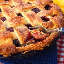 Black Cherry Pie with Easy Sour Cream Pie Crust