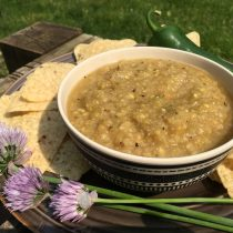 Spicy Rhubarb Ginger Salsa