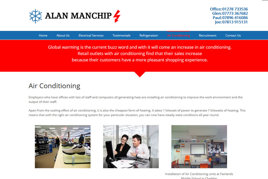 Electrian and Elctrical Engineering Website Designers in Somerset