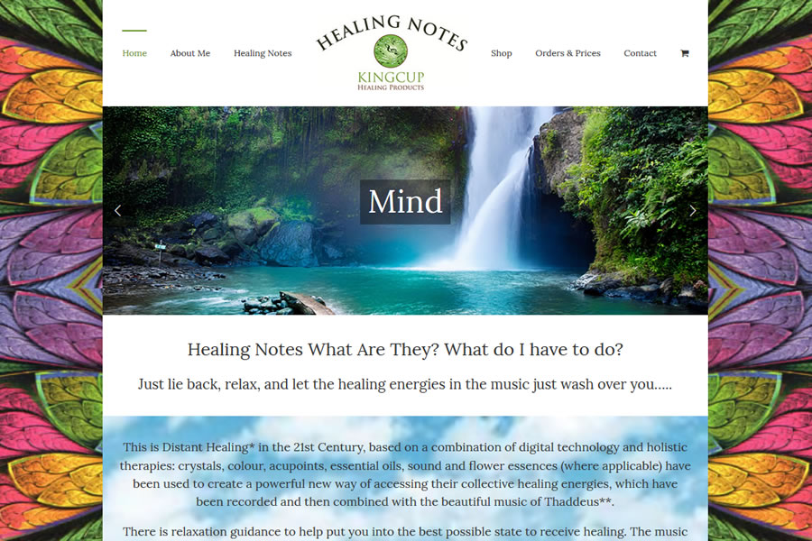 Healing Notes eCommerce Website Design