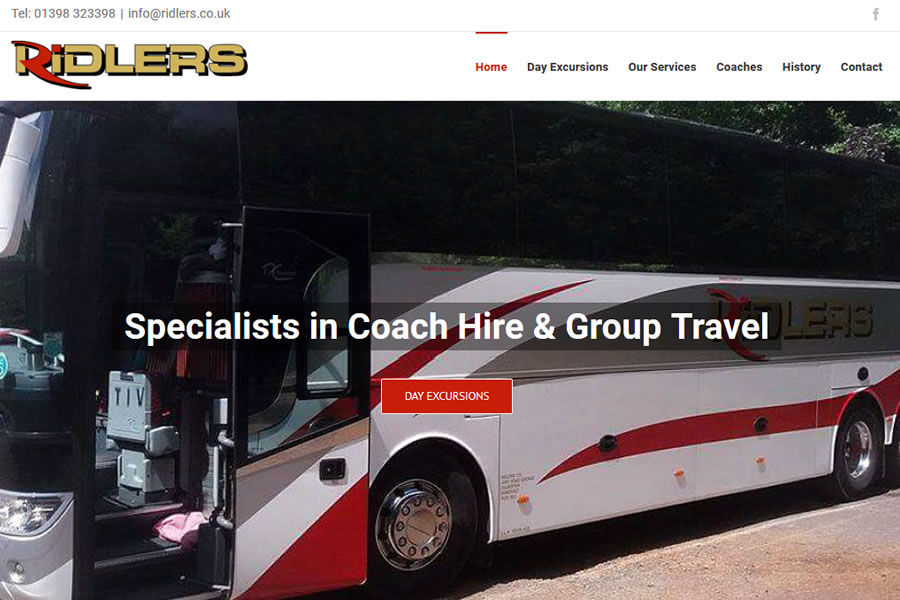 Coach company website designers in Somerset