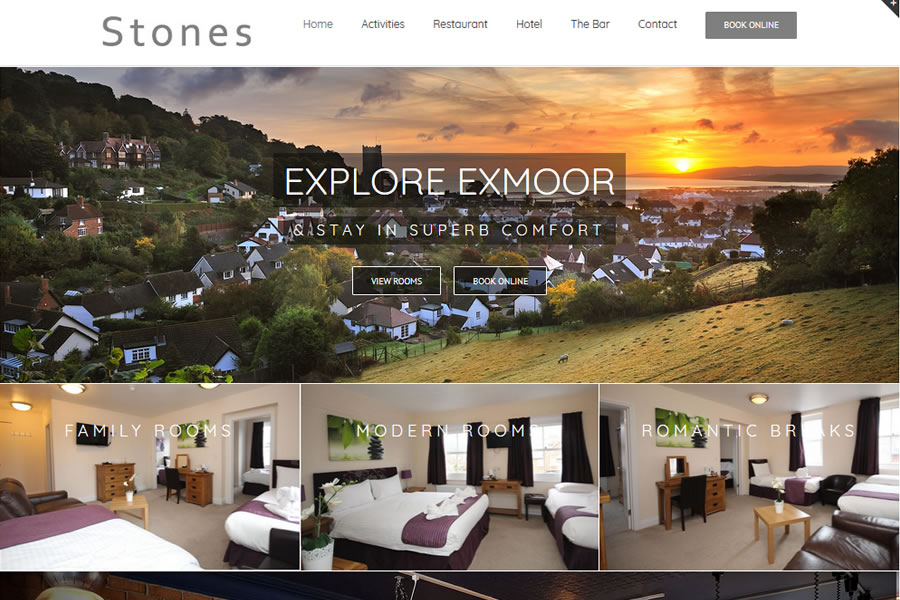 Hotel website designers in Minehead, Somerset