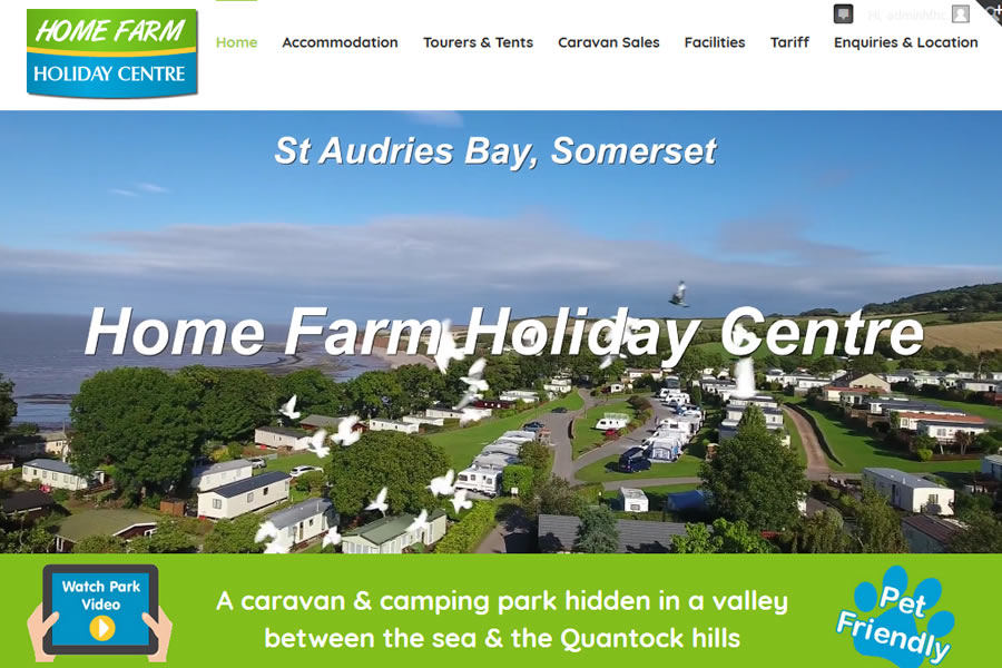 Holiday Park Website Designers in Somerset