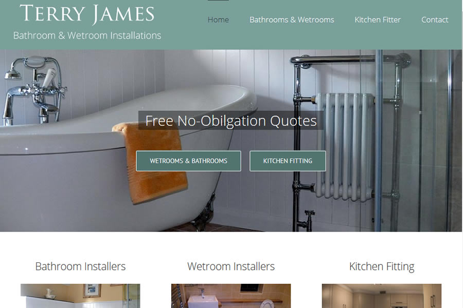 Website Makeover for Terry James Bathrooms & Wetrooms in Somerset ...