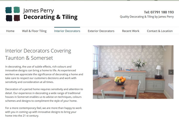 Website Design for Decorator in Somerset