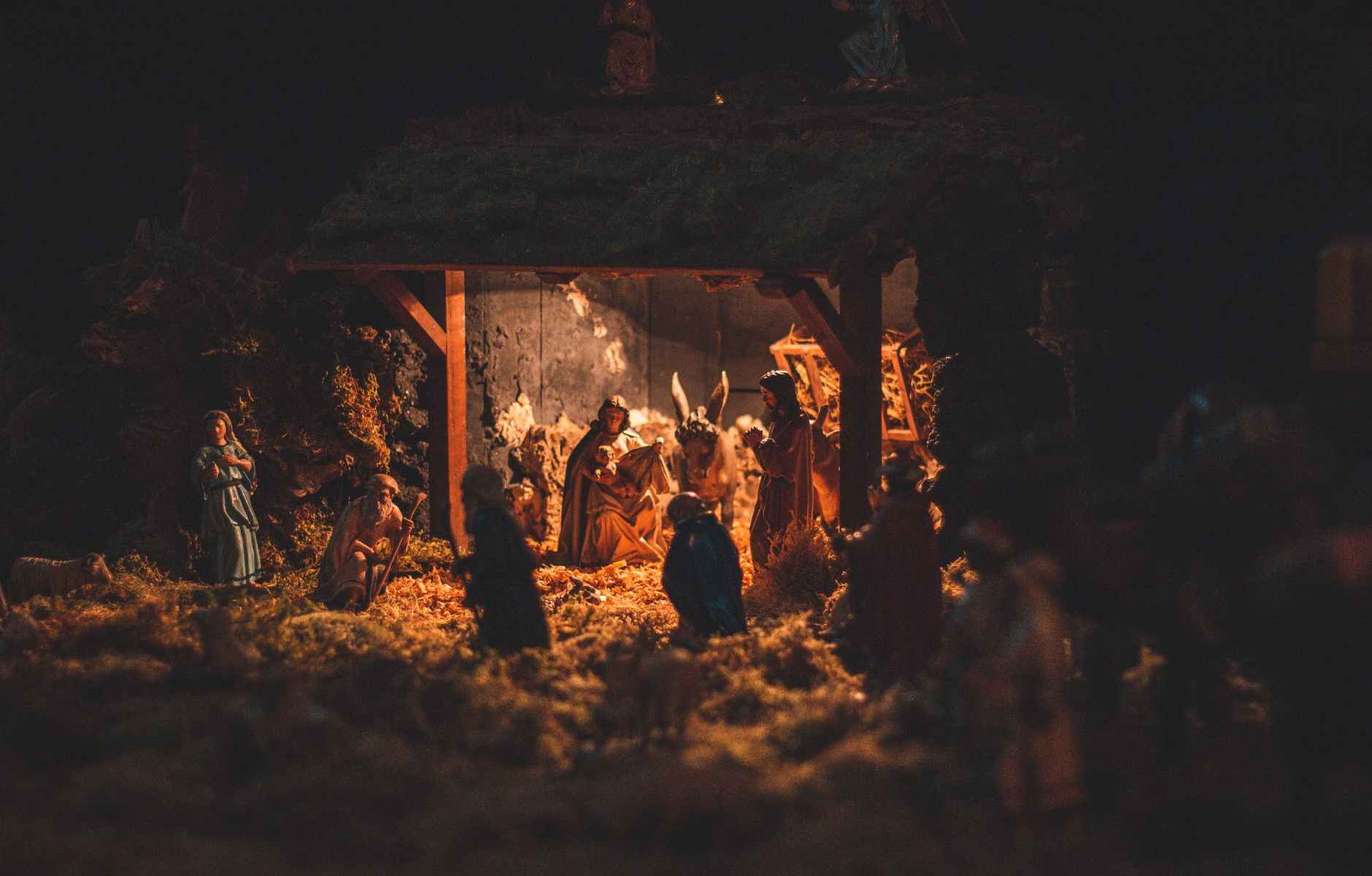scene of birth of christ