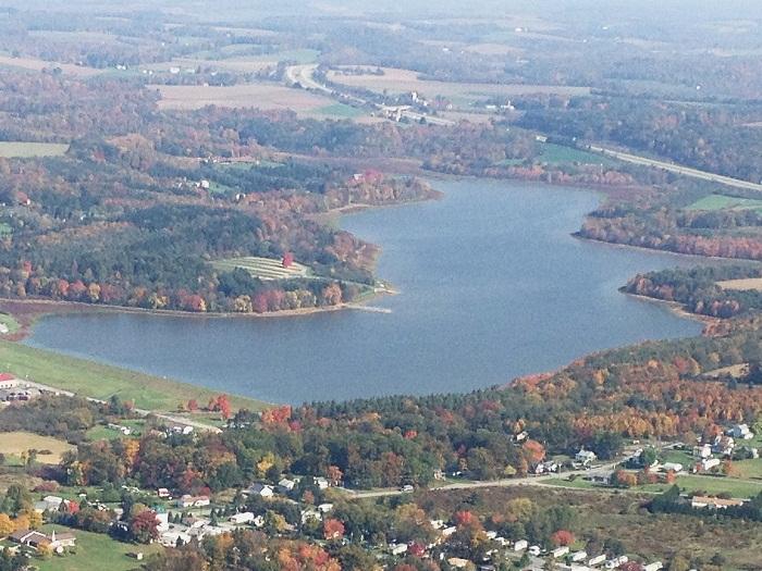 Aerial view of Somerset Lake