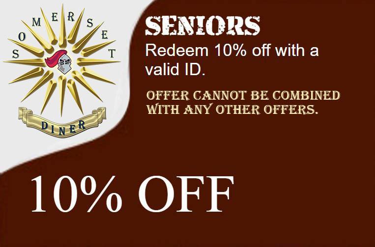 Somerset Diner - Seniors promotion