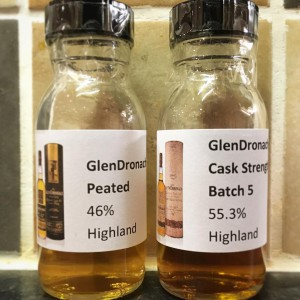 GlenDronach Batch 5 and Peated samples