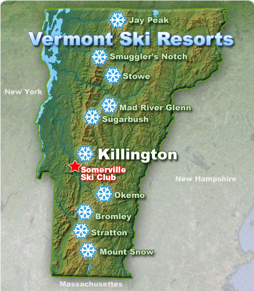Ski Areas Map
