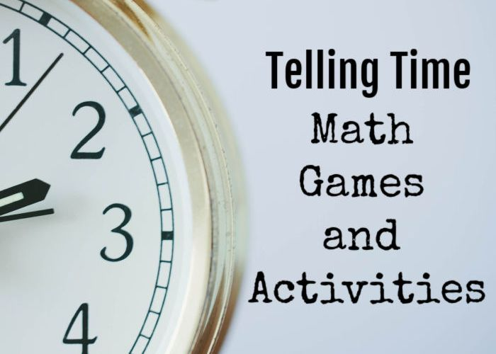Telling Time Math Games and Activities