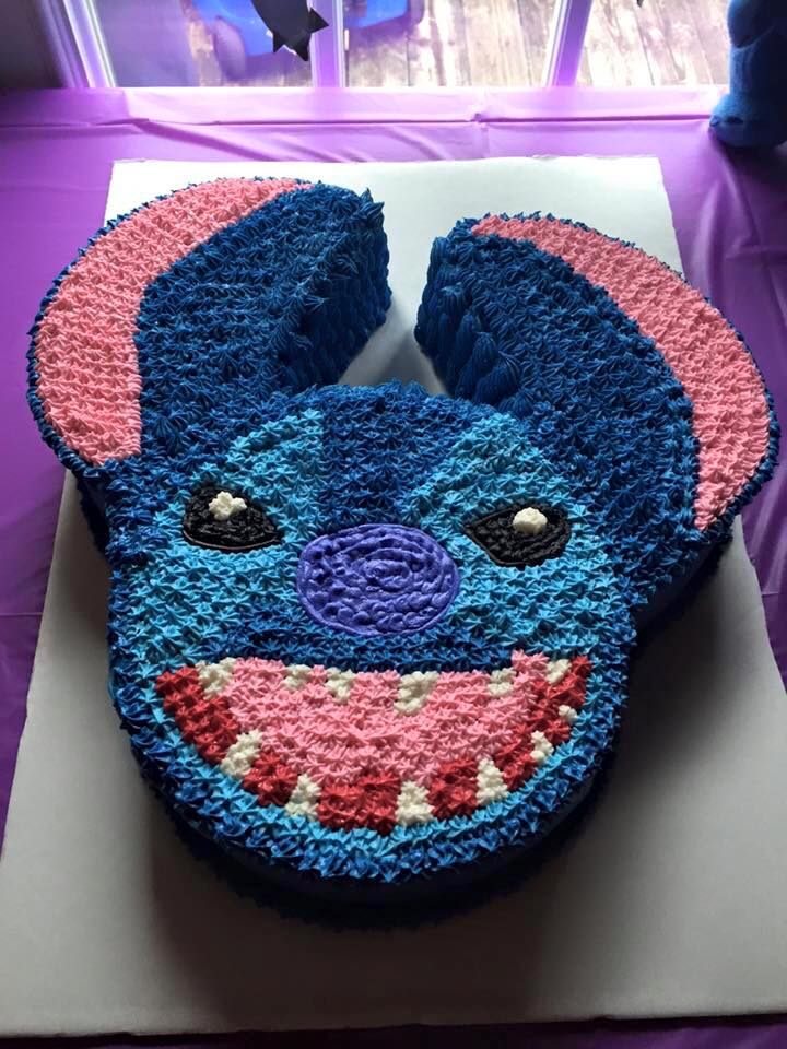 Disney Stitch Character Birthday Cake
