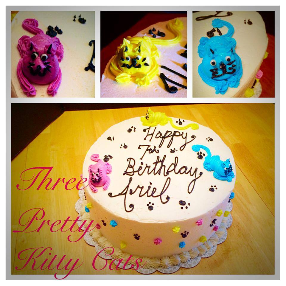 Kitty Cat Themed Birthday Cake