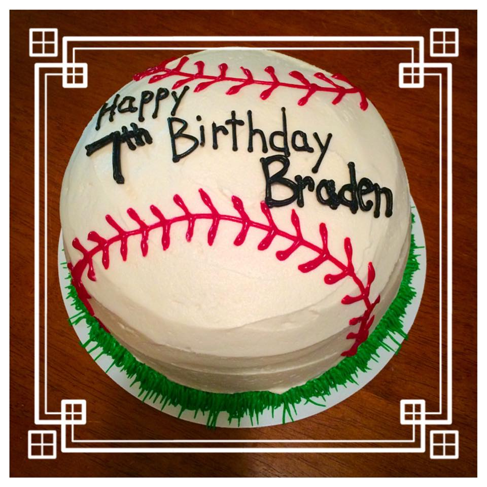 Baseball Themed Birthday Cake