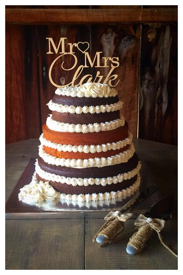 The Barn at Wildwood Springs Chocolate Pumpkin Spice Rustic Naked Cake