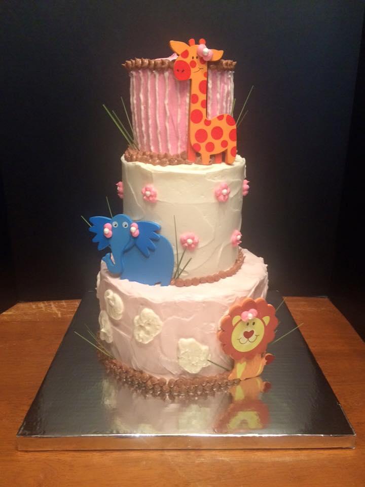 Jungle Safari Themed Baby Shower Cake