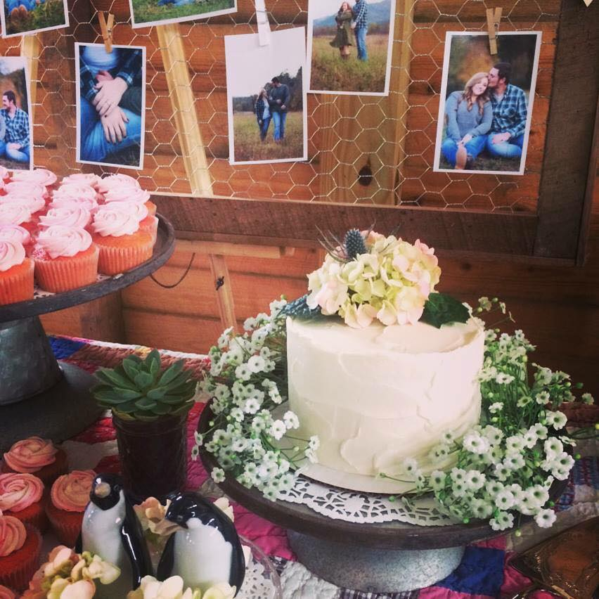 The Barn at Deep Well Farms Wedding Cutting Cake Stucco Buttercream Finish