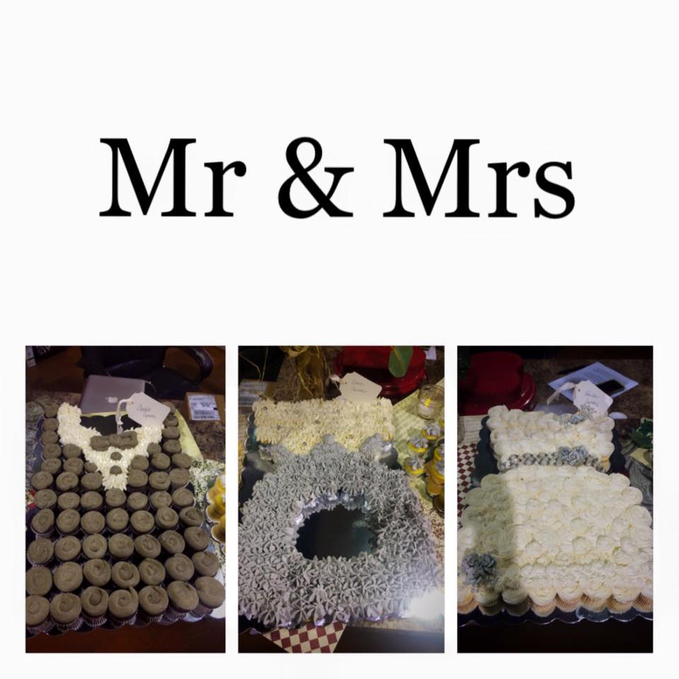 Mr and Mrs Mini Cupcake Collage