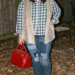 Pairing Plaid and Fur + Giveaway