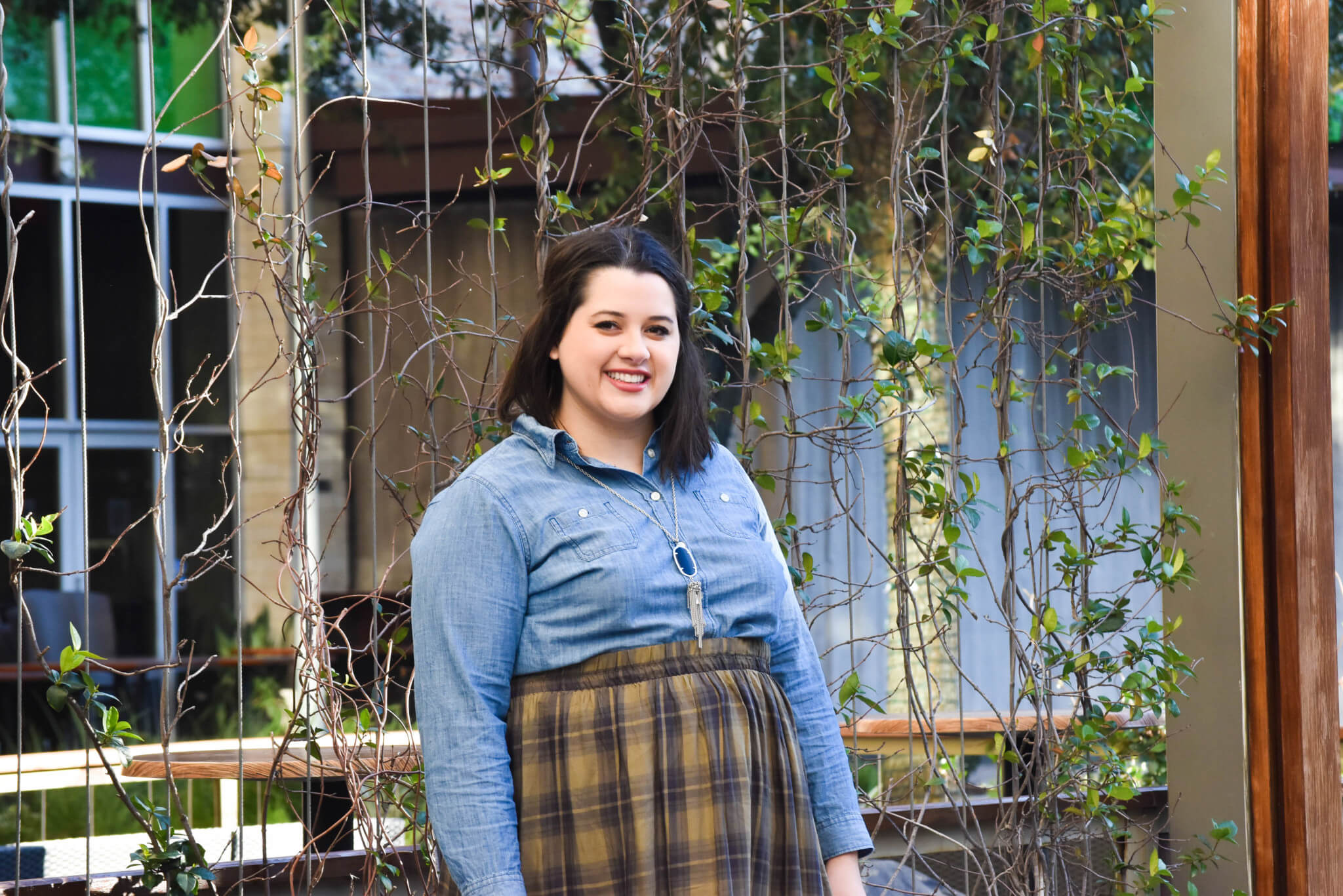 Transitioning to Spring | Something Gold, Something Blue Blog | Old Navy Plaid Skirt