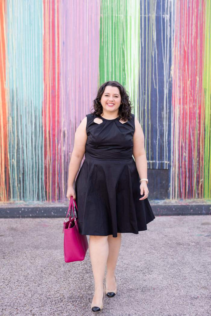 Business Casual with eShakti - Something Gold, Something Blue style blog - eShakti black dress, Lilly Pulitzer blazer, Tory Burch Tote and Corso Como shoes make for a perfect work outfit