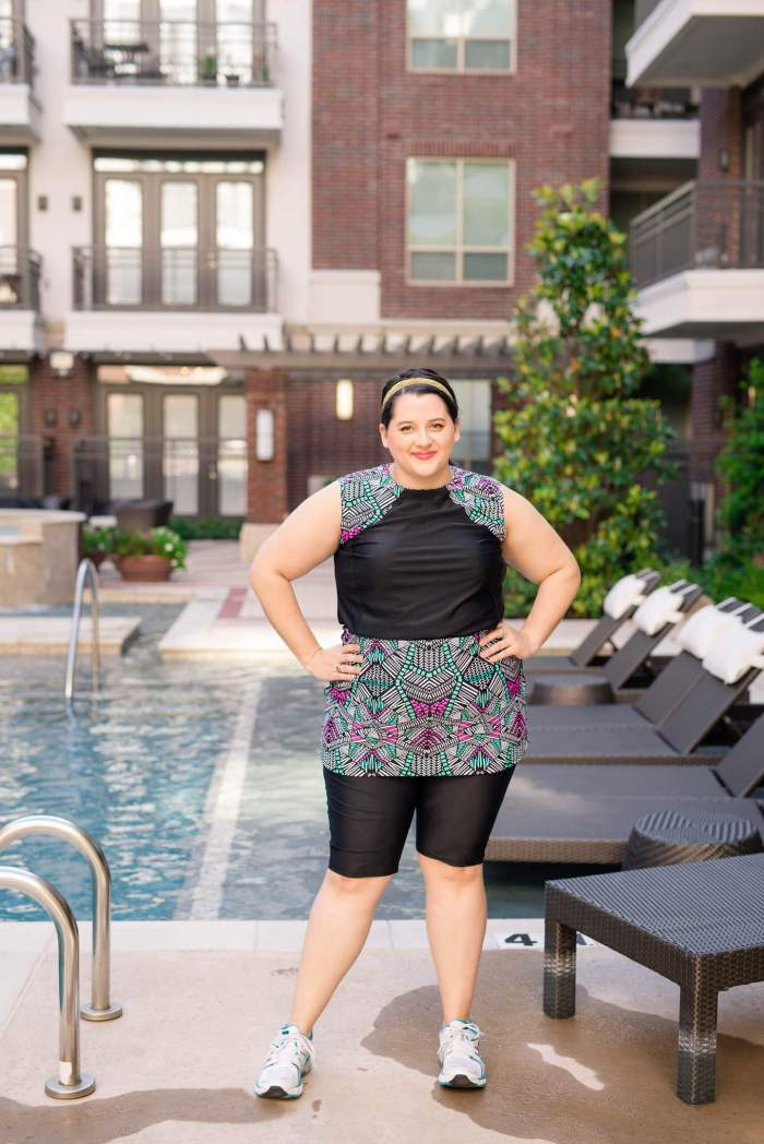 HydroChic Active Wear - Something Gold, Something Blue fashion blog - what to wear to work out in the summer, active wear, activewear, swimwear, workout, what to wear swimming, asics, sweatybands, summer work out