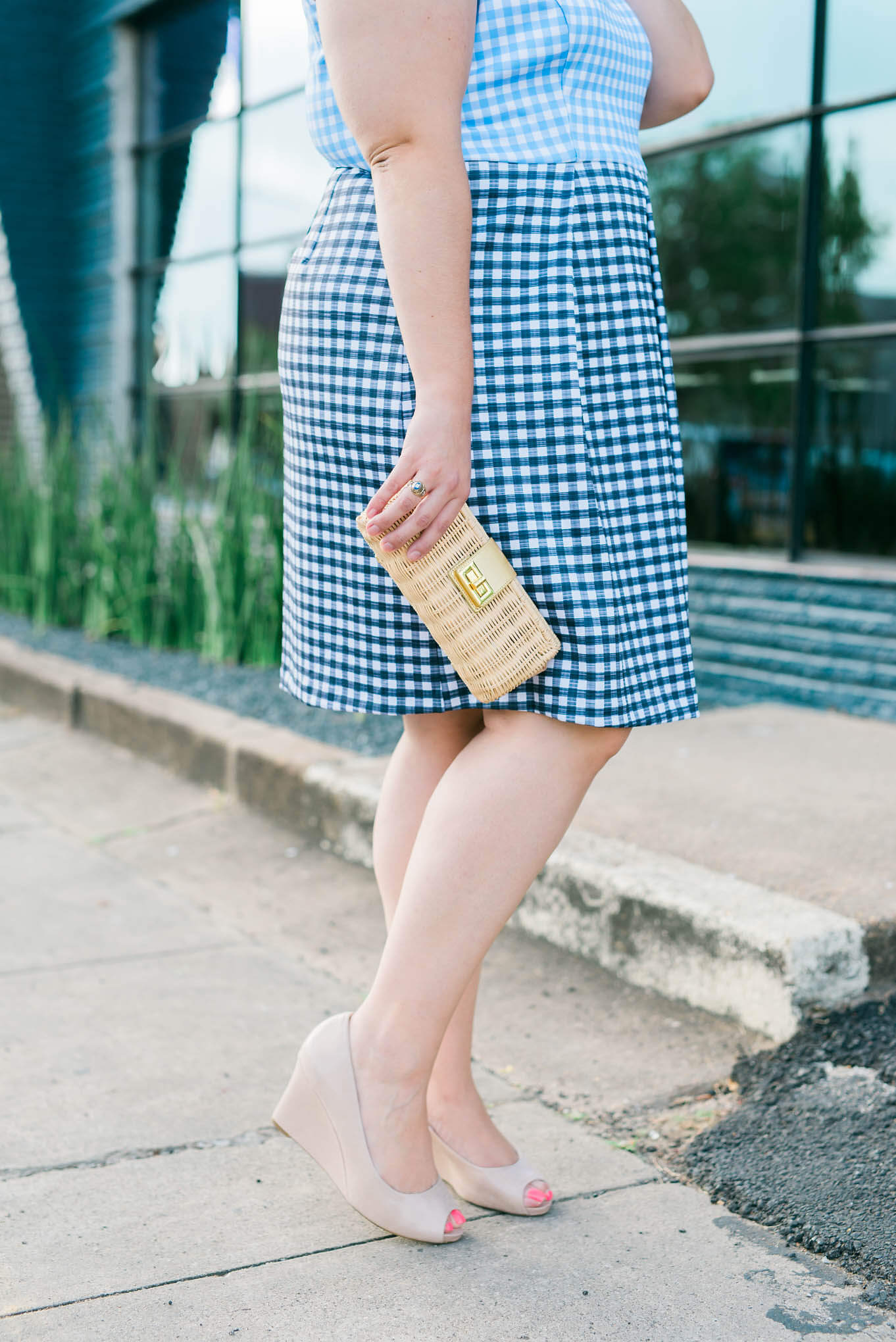 I loved attending one of my fellow choir gals wedding a few weeks ago and this Eloquii gingham dress would have made for the perfect outfit. - Something Gold, Something Blue a personal curvy style blog by Emily Bastedo