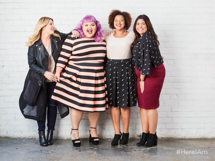 Today I'm sharing the first video in the Ashley Nell Tipton docuseries with JCPenney which goes behind the scenes as she prepares her line for the JCPenney Boutique+ line. #HereIAm | Something Gold, Something Blue curvy fashion blog by Emily Bastedo