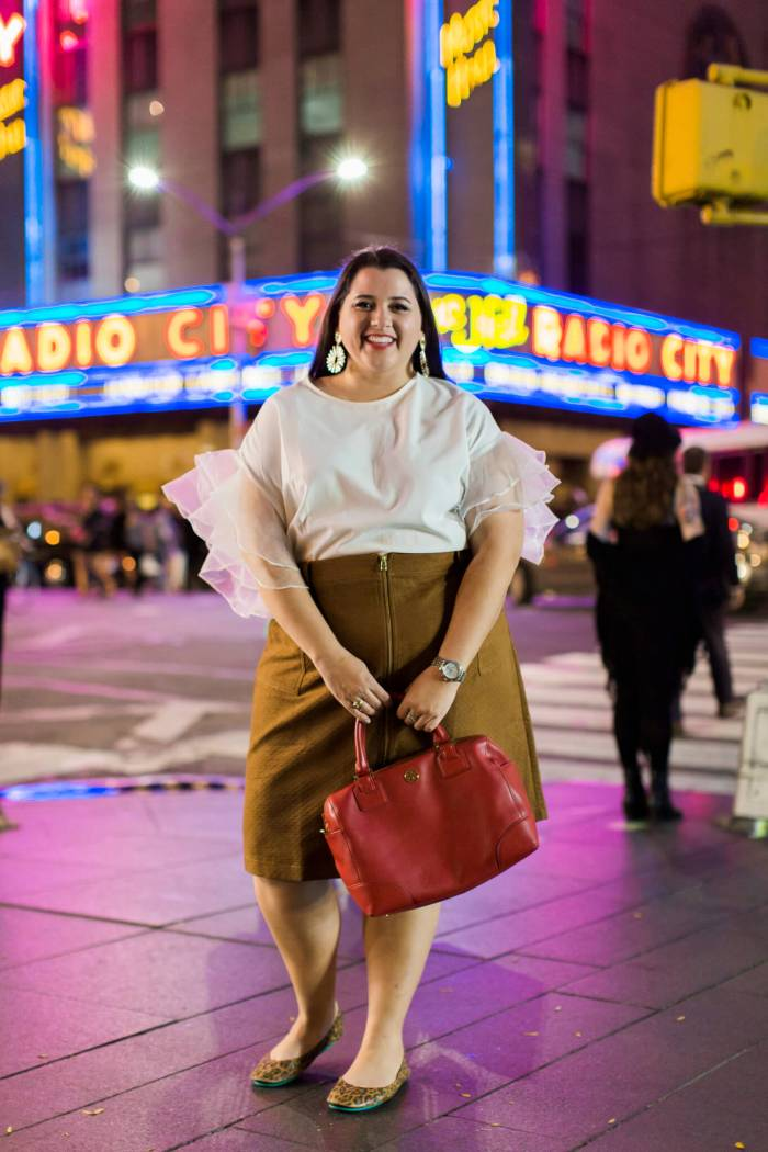 Styling a Suede Skirt for NYFW Day 3