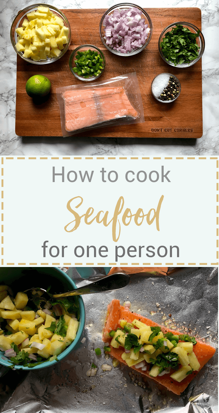 Cooking for one can be challenging, but I'm sharing my tips for how to cook seafood for one person with the help of World Port Seafood @worldportseafood . #ad #WPSeafood