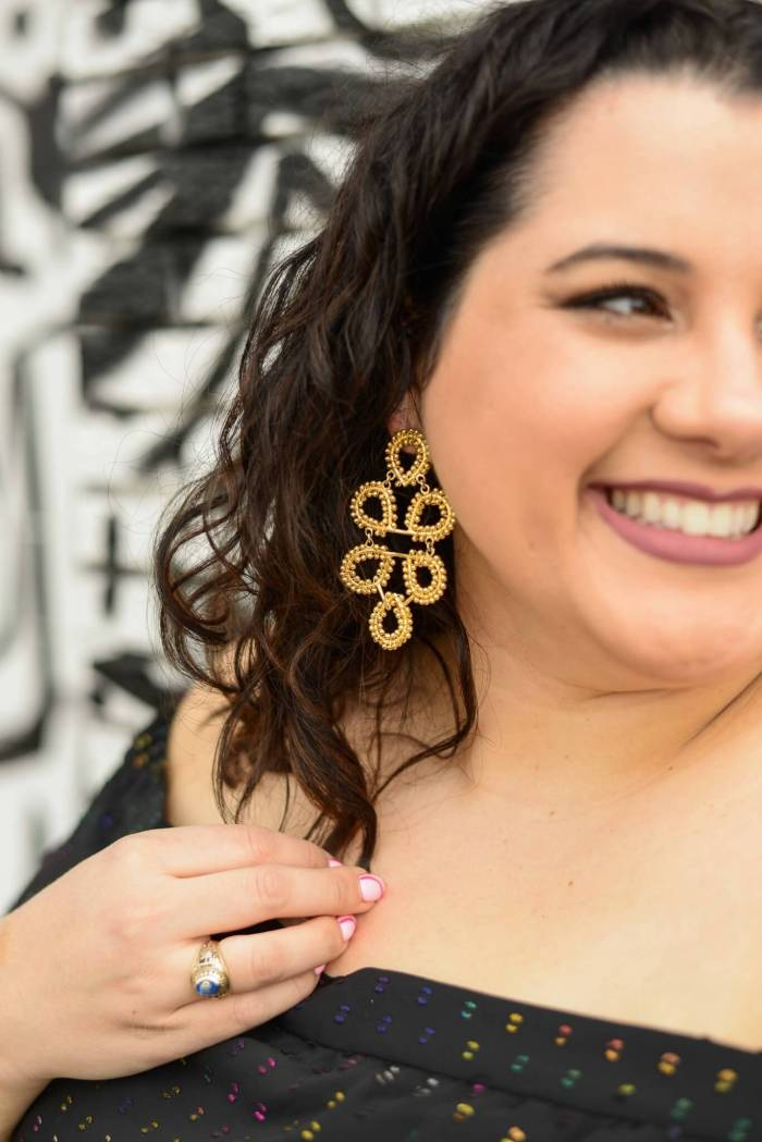 Gold statement earrings are always a good idea