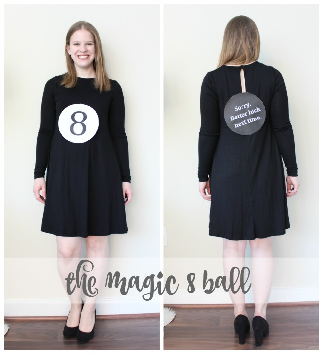the lazy girls guide to halloween costumes magic 8 ball costume last minute costume - Magic 8 Ball Halloween Costume
