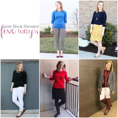 Five Ways to Wear a Crew Neck Sweater