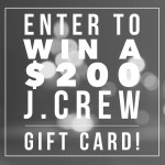 J.Crew Gift Card Giveaway!
