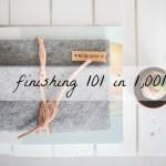 Finishing 101 in 1,001
