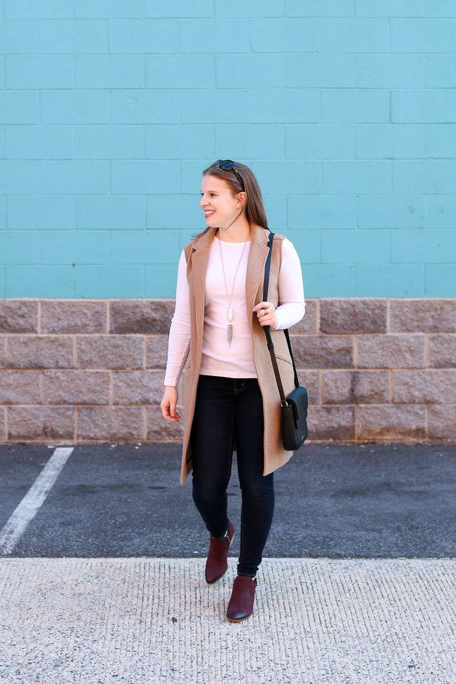 The Camel Blazer Vest | Something Good, american eagle outfitters denim